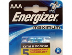 "⁣Батарейки Energizer Maximum ""AAA"" LR03 мизинчик, 2шт."